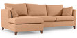 Farina RHS Sofa with Lounger in Camel Colour by Furny