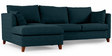 Farina RHS Sofa with Lounger in Dark Blue Colour by Furny