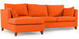 Farina RHS Sofa with Lounger in Orange Colour by Furny