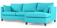 Farina RHS Sofa with Lounger in Aqua Blue Colour by Furny