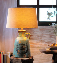 Fabuliv Beige Jute Anso Table Lamp