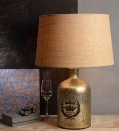 Fabuliv Vintage Beige Cotton Table Lamp - 1394220