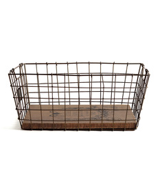 FABULIV Metal Wire Basket - Set Of 2