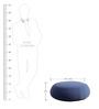 Fabio Big Size Pouffe in Blue Colour by CasaCraft