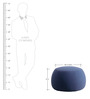 Fabio Medium Size Pouffe In Blue Colour By CasaCraft