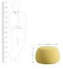 Fabio Medium Size Pouffe In Sunglow By CasaCraft