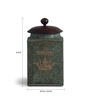 Fabuliv Antique Green Iron Sheet and Mango Wood Vintage Antique Box with Lid - Set of 3