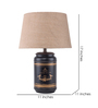 Fabuliv Beige Cotton Stile Small Table Lamp