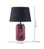 Fabuliv Black Cotton Vintage Arrow Table Lamp