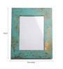 Fabuliv Blue Compressed Wood & Glass 13 x 0.8 x 15.3 Inch Vintage Photo Frame