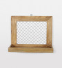 Fabuliv Brown Mango Wood Framed Wall Shelf