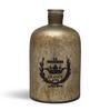 Fabuliv Silver Brass & Glass 7 X 12 Inch Vase