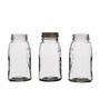 Fabuliv Transparent Cylindrical 1000 ML Jar with Lid - Set of 3