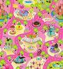 FashBlush Non Woven Eva Base Candy Land Play Mat in Multicolour