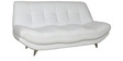 Feather Three Seater Sofa in White Leatherette by Sofab