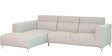 Felipe RHS Three Seater Sofa with Lounger in Sandy Beige Colour By CasaCraft