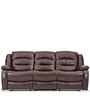 Felix Three Seater Recliner in Brown Colour by Durian