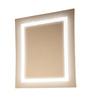 Ferrara Design Silver Glass Ice Glossy Italian Wall Mirror