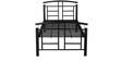 Fiona Single Bed in Black Colour by Godrej Interio