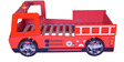Fire Engine Bed in Red Finish by Parin