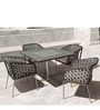 Fine Living 4-Seater Dining Set (1T + 4C) by Loom Crafts