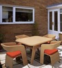 Fine Living 4-Seater 100 cm Dining Set (1T + 4C) by Loom Crafts