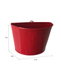 First Smart Deal Red Gi Metal Wall Planter