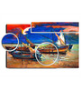 Hashtag Decor Fishing Boats And Sea Engineered Wood Art Panel
