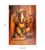 Fizdi Canvas 24 x 0.2 x 36 Inch Brown Shade Ganesha Unframed Art Painting