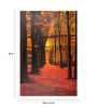 Fizdi Canvas 24 x 0.2 x 36 Inch Red Welcome Unframed Art Painting