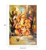 Fizdi Canvas 24 x 0.2 x 36 Inch Temple Ganesha Unframed Art Painting
