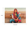 Fizdi Canvas 36 x 0.2 x 24.8 Inch Life of Rajasthan 6 Unframed Art Painting