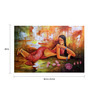 Fizdi Canvas 36 x 0.2 x 24 Inch Lady with Lotus Unframed Art Painting