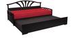 Flora Slider Sofa cum Bed in Red Colour by Auspicious