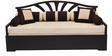 Flora Slider Sofa cum Bed with Five Round Bolsters in Cream Colour by Auspicious