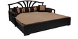 Flora Sofa cum Bed with 2 Pillows & 5 Bolsters in Brown Color by Auspicious
