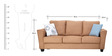 Florence Three Seater Sofa in Sandy Colour by Furnitech