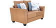 Florence Two Seater Sofa in Sandy Colour by Furnitech