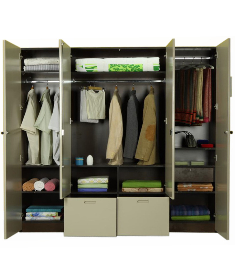 Flute Four Door Wardrobe By Godrej Interio By Godrej