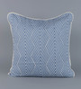 Floor and Furnishings Indigo Cotton 24 x 24 Inch Chevron Special Cushion Covers - Set of 2