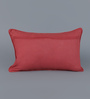 Floor and Furnishings Rouge Cotton 20 x 12 Inch Amer Cushion Cover