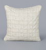 Floor and Furnishings White Cotton 24 x 24 Inch Vintage Cushion Covers - Set of 2