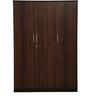 Florence Three Door Wardrobe in Wenge & Walnut Colour by Nilkamal