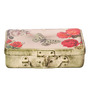 Fluke Design Company Butterlfly Rose Decoupage White Aluminium 7.1 x 3.9 x 2 Inch Keepsake Box