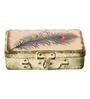 Fluke Design Company Divine Feather Decoupage White Aluminium 7.1 x 3.9 x 2 Inch Keepsake Box