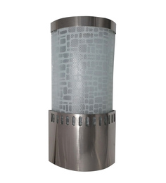 Fos Lighting White & Silver Steel & Glass Wall Light - 1561382