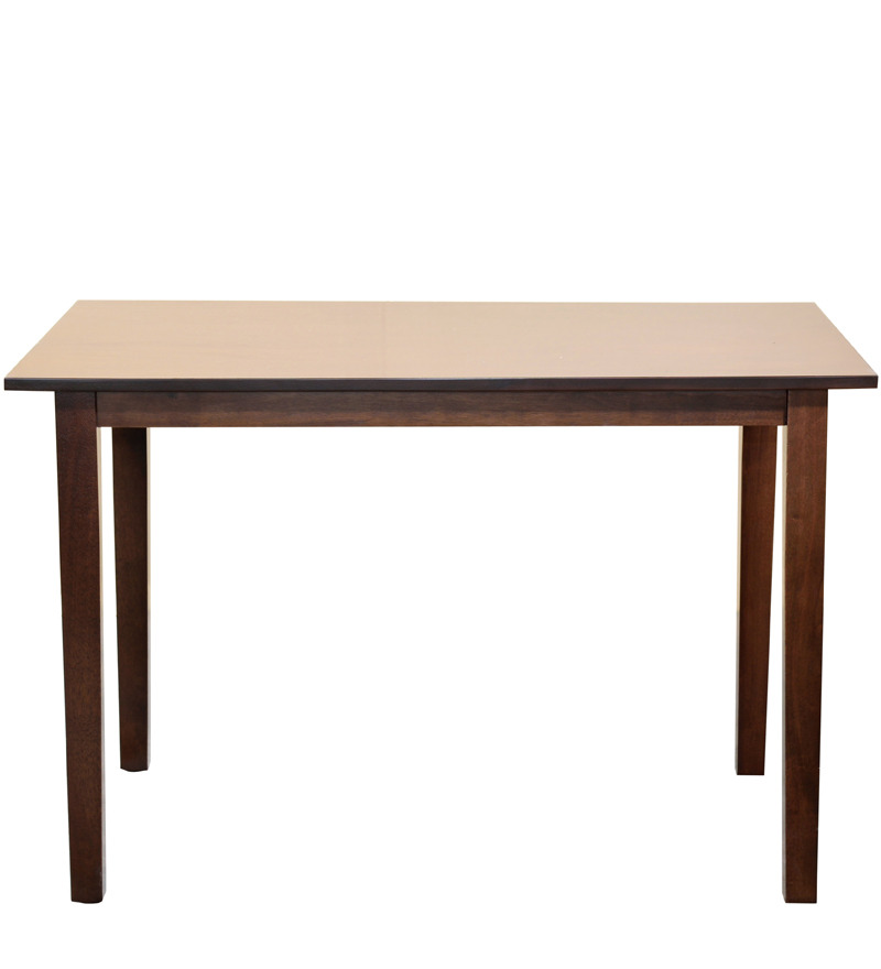 four seater dining set in walnut finish by mintwud by