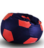 Football Bean Bag (Cover Only) XXL size in Blue & Red Colour  by Style Homez