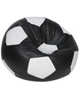 Football XXL Bean Bag Cover without Beans in Black and White Colour by Sattva