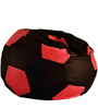 Football XXL Bean Bag Cover without Beans in Brown and Pink Colour by Sattva